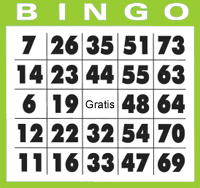 Gratis bingobricka